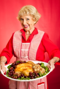 Grandma Serves Holiday Dinner